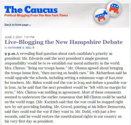 NYT blog